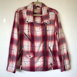 FREE PEOPLE adorable flannel jacket size S!